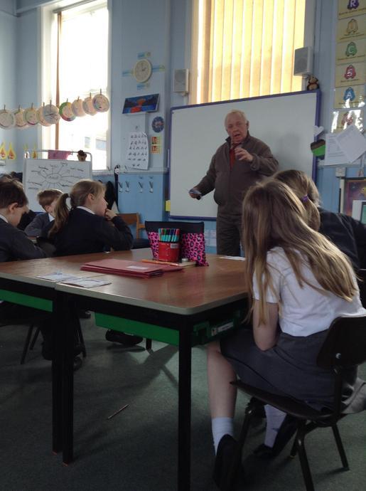Mr Lowe imparting his WW2 knowledge.