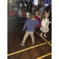 Lots of serious dance moves on the floor!