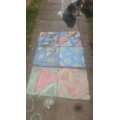 Ferne has made chalk patterns.