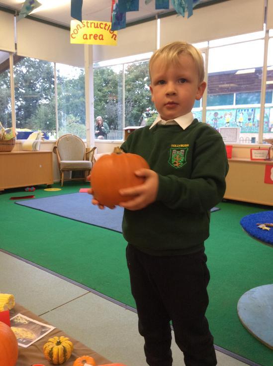 We loved the big pumpkins!