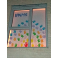 Olivia's amazing rainbow for the NHS!
