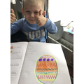 Alan's colourful Easter egg!