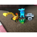 Bonnie has been busy making lego!