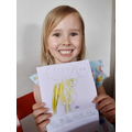 Ruby's Beegu picture & writing #gridchallenge