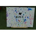 Great splatter art for the NHS Riyad!