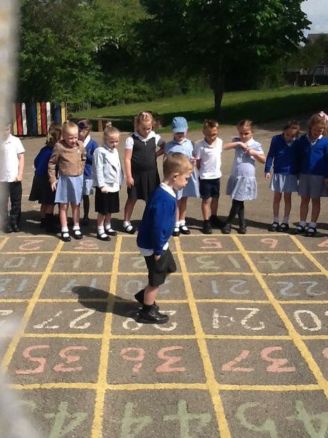 whilst directing each other to numbers.