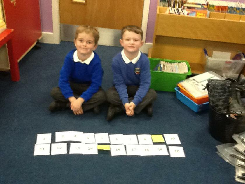 Writing missing numbers