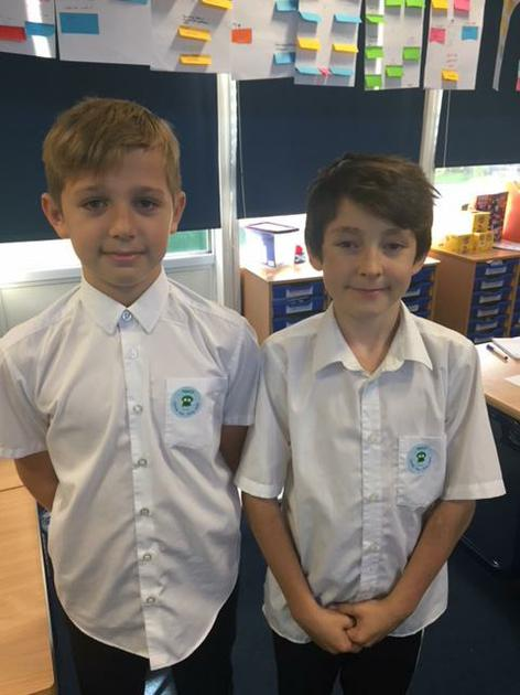 We look fab in our NSPCC stickers!