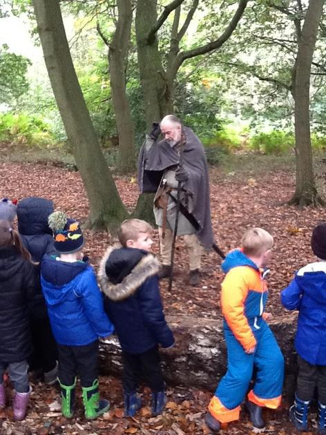 Listening to stories of Robin Hood