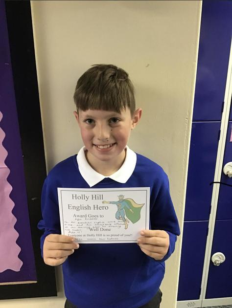 Alfie is English Hero this week for producing some beautiful English work!