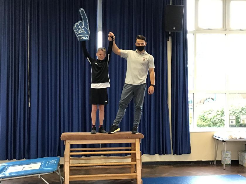 Isaac was the overall winner of the Ninja Warrior timed challenge!