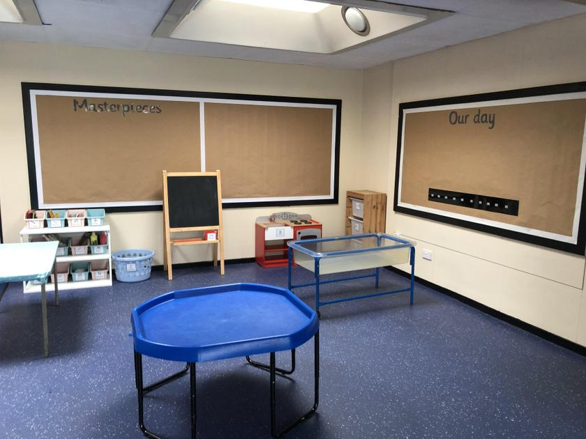 This area has water, sensory, messy and craft activities for you to enjoy.