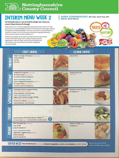 Change of dates, menu remains