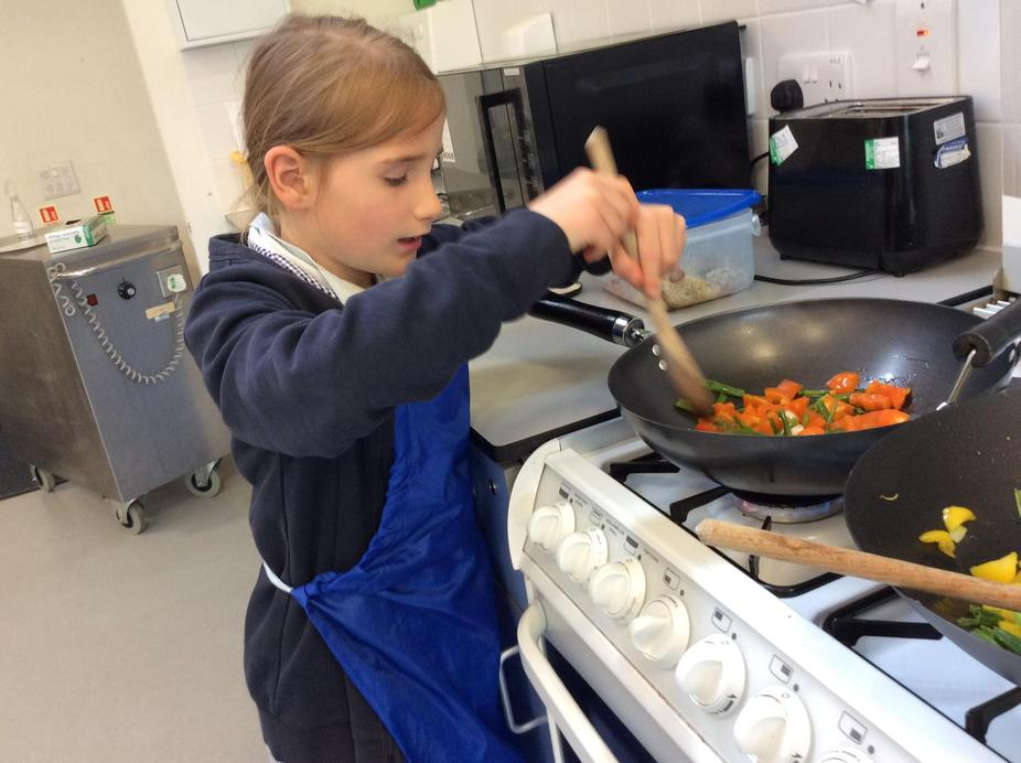 Pupil cooking