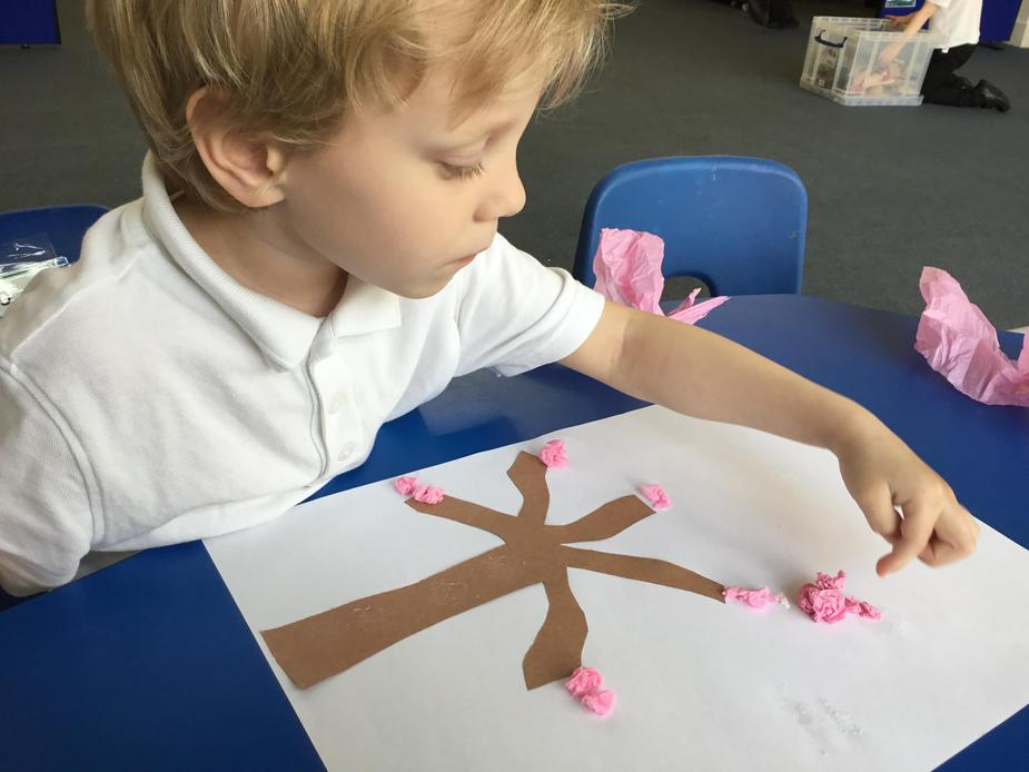 We created blossom tree pictures
