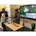 Purple Class learning to choose and then exchange for an item