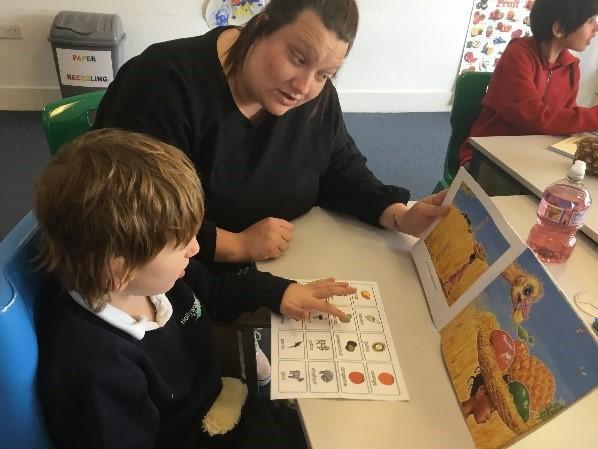 pupil sharing a story