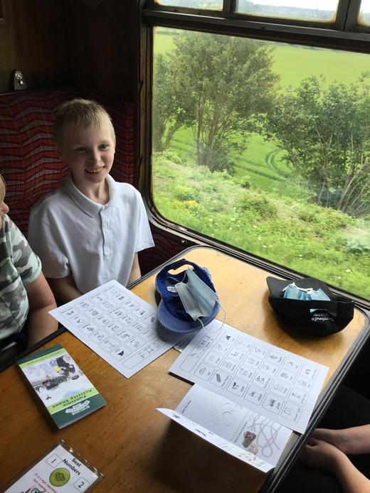 On the Watercress line steam train