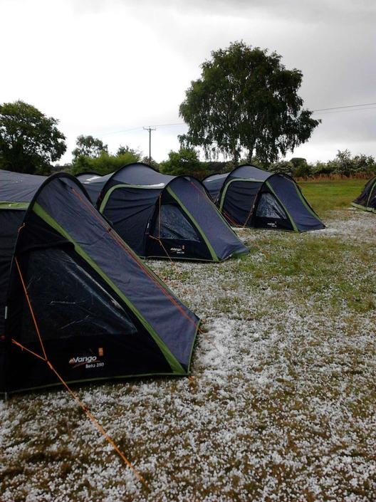 ..and sat out the LOUDEST hail storm ever!