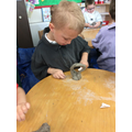 Working with clay in Reception