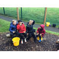 We enjoyed hot chocolate and biscuits in the Autumn sunshine
