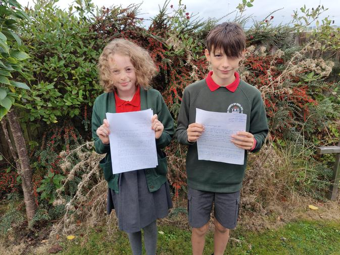 Members of Social Justice Committee with letters to local supermarkets