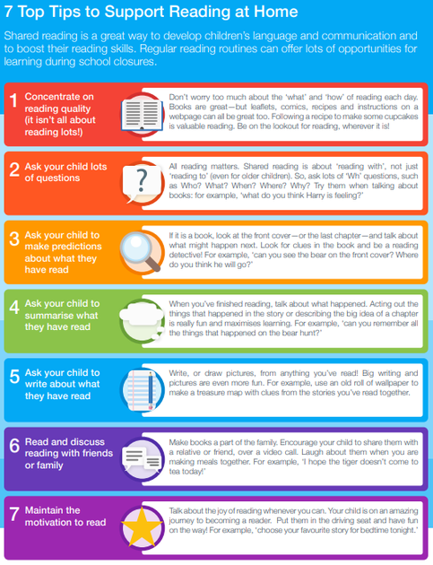 7 Top Tips for Reading with your child