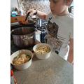 Making Spaghetti Bolognese