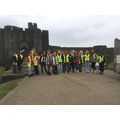 Outside Caerphilly Castle