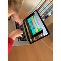 Practising typing skills