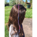Finished hair braid on Mrs Nation's daughter
