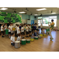 We joined in a Samba drumming workshop