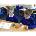 We found different ways to group the shapes