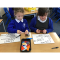 We drew and labelled 2D shapes