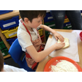 Stretching and shaping the dough