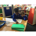 We wrote our own stories to read to our friends.
