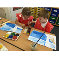 Mixing our own colours