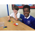 We identified and sorted 2D shapes