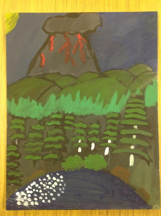 Volcanic Explosion by Saorla Sweeney