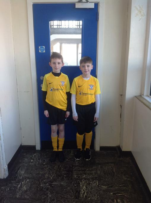 P7D boys representing Hold Child soccer team.