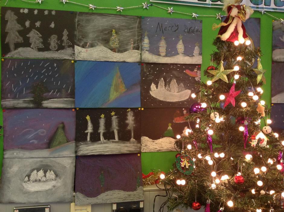 🎀Our Wonderful Christmas Art using Chalk & Pastel
