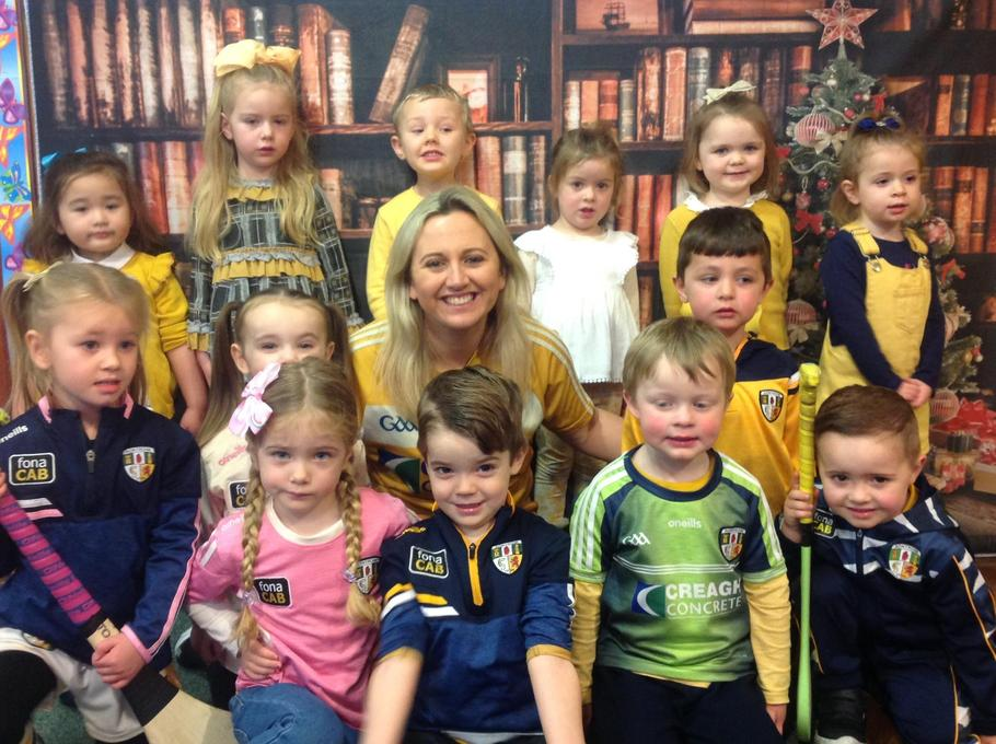 Today we wore yellow to support Antrim Senior Hurling Team