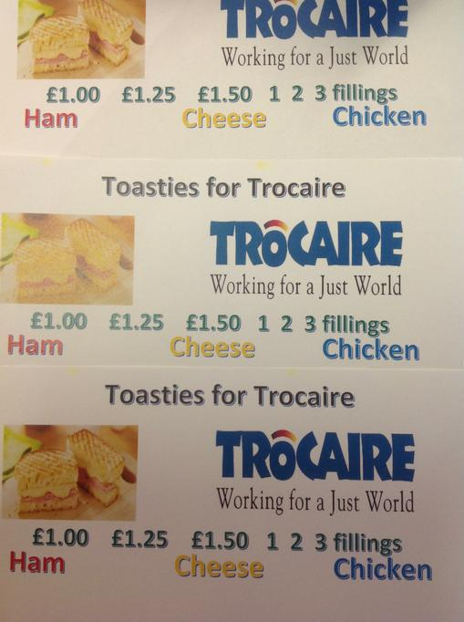 """Toasties For Trocaire"""