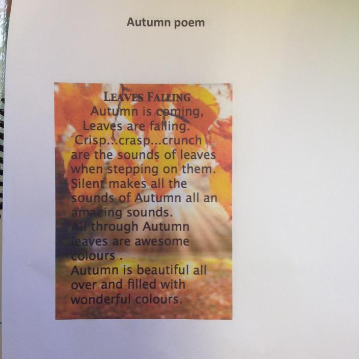 Autumn Poem by Leah Boyle Hughes
