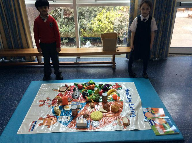 Likhit and Ruby enjoyed making a healthy plate!