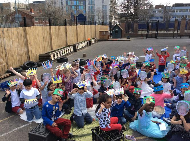 We had fun celebrating the Queen's birthday!