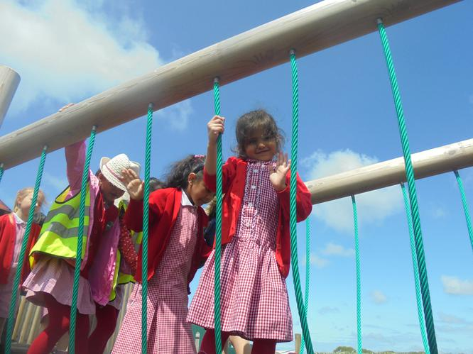 We enjoyed playing in the park with our friends.