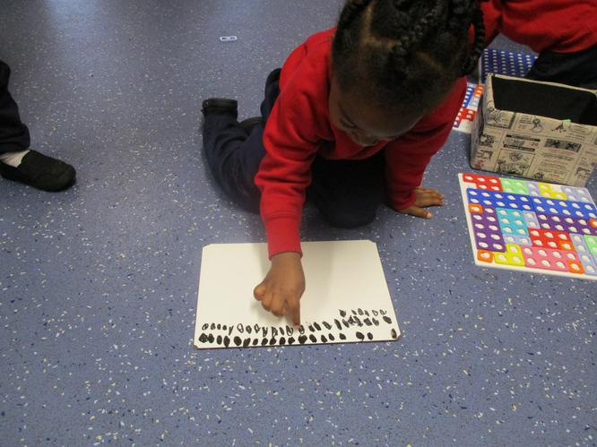 I am representing number using mark making!