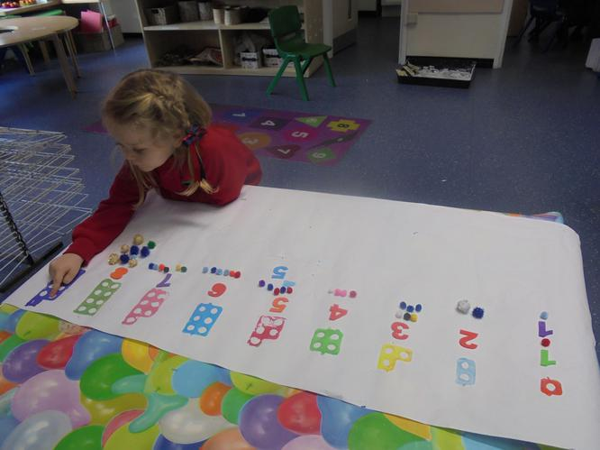 I am representing numbers in different ways!
