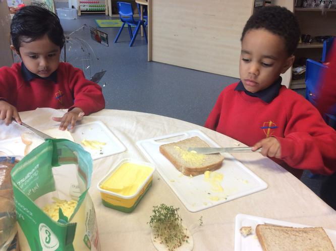 The cress is tasty.